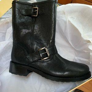 Micheal Kors black Moto boots